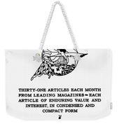 Readers Digest, 1922 Weekender Tote Bag