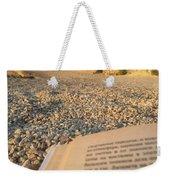 Reading A Book On Pebble Beach Weekender Tote Bag