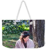 Reading Beneath The Cherry Blossoms Weekender Tote Bag