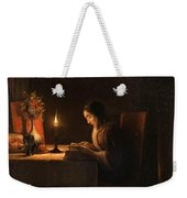 Reading By Candlelight Weekender Tote Bag