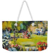 Reading In The Garden Weekender Tote Bag