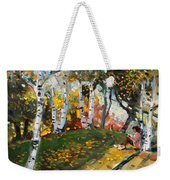 Reading In The Park  Weekender Tote Bag