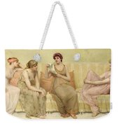 Reading The Story Of Oenone Weekender Tote Bag by Francis Davis Millet