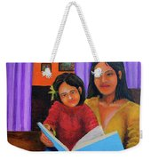 Reading With Mom Weekender Tote Bag