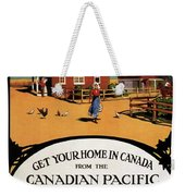 Ready Made Farms In Western Canada - Canadian Pacific - Retro Travel Poster - Vintage Poster Weekender Tote Bag