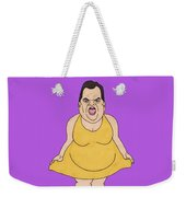 Real Candidates Of The Gop - Chris Christie - The Man-eater Weekender Tote Bag