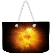 Realistic Fiery Explosion, Orange Color With Sparks Isolated On Black Background Weekender Tote Bag