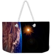 Realistic Illustration Of Earth And Sun Weekender Tote Bag