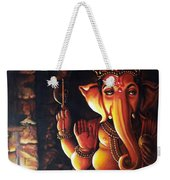 Portrait Of Lord Ganapathy Ganesha Weekender Tote Bag