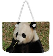 Really Cute Giant Panda Bear With Bamboo Weekender Tote Bag