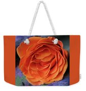 Really Orange Rose Weekender Tote Bag