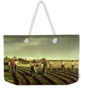 Reaping Sainfoin In Chambaudouin Weekender Tote Bag by Pierre Edmond Alexandre Hedouin