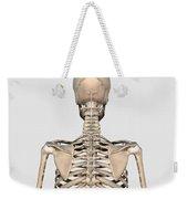 Rear View Of Human Skeletal System Weekender Tote Bag