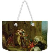 Rebecca Kidnapped By The Templar Weekender Tote Bag by Ferdinand Victor Eugene Delacroix