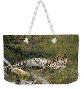 Reclining Cheetah 2 Weekender Tote Bag