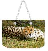 Reclining Cheetah Weekender Tote Bag