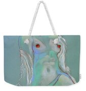 Reclining Figure With Coffee Cup Weekender Tote Bag