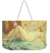 Reclining Nude Weekender Tote Bag by Henri Lebasque