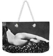 Reclining Nude: Rear View Weekender Tote Bag