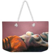 Reclining Nude With Striped Pants Weekender Tote Bag