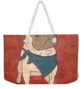 Recycled Pug Weekender Tote Bag
