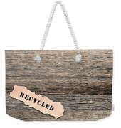 Recycled Wood Weekender Tote Bag