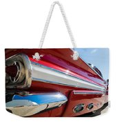 Red 1960 Chevy Low Rider Weekender Tote Bag