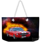 Red 1966 Mustang Fastback Weekender Tote Bag