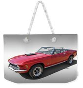 Red 1970 Mach 1 Mustang 351 Cleveland Weekender Tote Bag