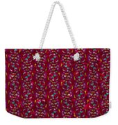 Red Abstract Weekender Tote Bag