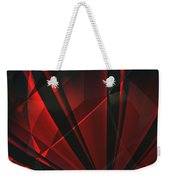 Red Abstractum Weekender Tote Bag