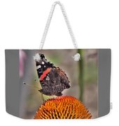 Red Admiral Butterfly On Coneflower              July              Indiana Weekender Tote Bag
