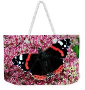 Red Admiral Butterfly Vanesa Atalanta Weekender Tote Bag
