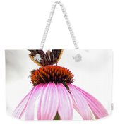 Red Admiral On Echinacea Weekender Tote Bag