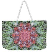 Red Amaryllis Trio Kaleidoscope Weekender Tote Bag
