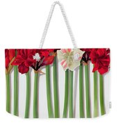 Red Amaryllis With Butterfly Weekender Tote Bag
