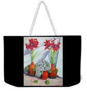 Red Amayrillis Weekender Tote Bag