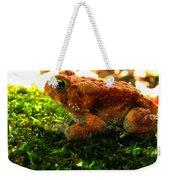 Red American Toad Weekender Tote Bag