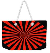 Red And Black Abstract #3 Weekender Tote Bag