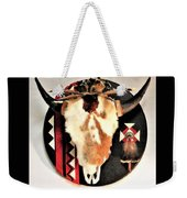 Red And Black Buffalo Design Weekender Tote Bag
