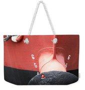 Red And Black Prow Weekender Tote Bag