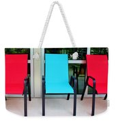 Red And Blue Chairs Weekender Tote Bag