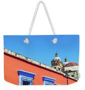 Red And Blue Colonial Architecture Weekender Tote Bag