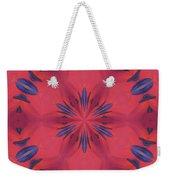 Red And Blue Weekender Tote Bag