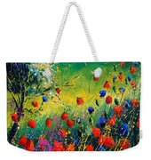 Red And Blue Poppies  Weekender Tote Bag