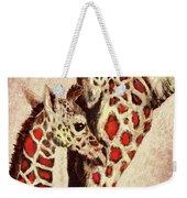 Red And Brown Giraffes Weekender Tote Bag