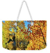 Red And Golden Aspens In Dillon Co Weekender Tote Bag