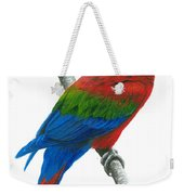 Red And Green Macaw Weekender Tote Bag