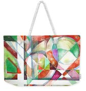 Red And Green Weekender Tote Bag by Mindy Newman