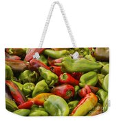 Red And Green Peppers Weekender Tote Bag
